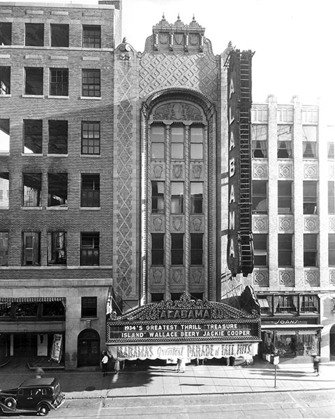 Facade of the Alabama Theatre